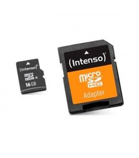Carte Mémoire Micro SD avec Adaptateur INTENSO 3413470 16 GB Cours 10