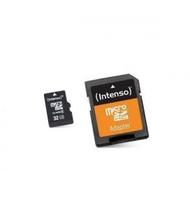 Carte Mémoire Micro SD avec Adaptateur INTENSO 3413480 32 GB Cours 10