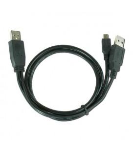 Câble Double USB vers Mini USB iggual IGG312063 0,9 m