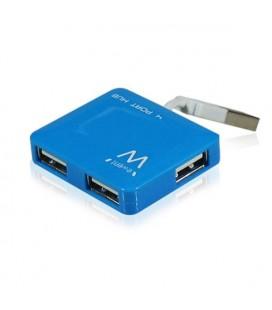Mini Hub 4 Ports Ewent EW1126 USB 2.0 Bleu