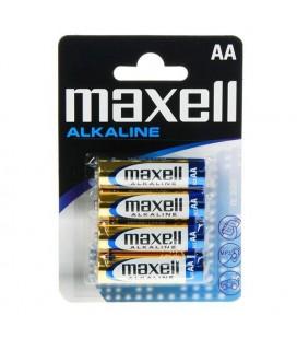 Piles Alcalines Maxell 1.5V AA PK4 AA 1,5 V