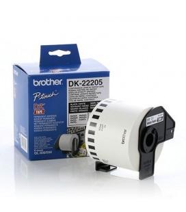 Papier Continu pour Imprimantes Brother DK22205 Blanc