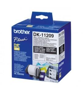 Etiquettes pour Imprimante Brother DK11209 62 x 29 mm Blanc