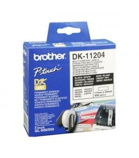Etiquettes pour Imprimante Multiusage Brother DK11204 17 x 54 mm Blanc