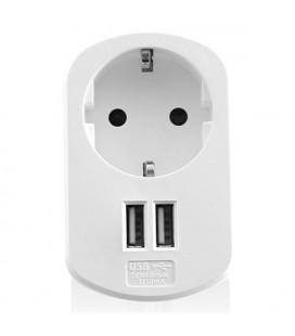 Prise Murale avec 2 Ports USB Ewent EW1211 3,1 A