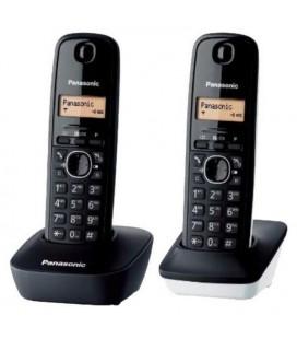Téléphone Sans Fil Panasonic KX-TG1612SP1 Noir Blanc (2 pcs)