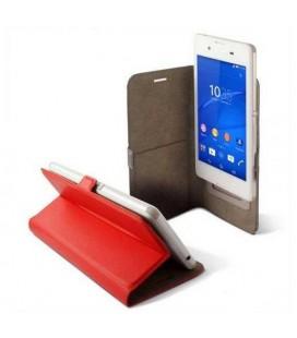 """Housse Universelle pour Mobile KSIX BXFU13T4 5RJ 4.5"""""""" Rouge"""