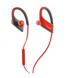 Écouteurs de Sport Bluetooth avec Microphone Panasonic RP-BTS30E Rouge