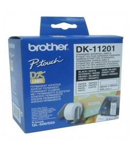 Etiquettes pour Imprimante Brother DK11201 29 x 90 mm Blanc