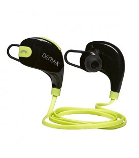 Casques Bluetooth de Sport Denver Electronics BTE-100GREEN Noir Vert