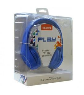 Casque Maxell Play MXH-HP500 Bleu Serre-tête
