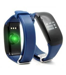 """Bracelet d'activités BRIGMTON BSPORT-14-A OLED 0.66"""""""" Bluetooth 4.0 IP67 Android /iOS 26 g Bleu"""