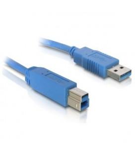 Câble USB A vers USB B DELOCK 82582 5 m Mâle vers Mâle Bleu
