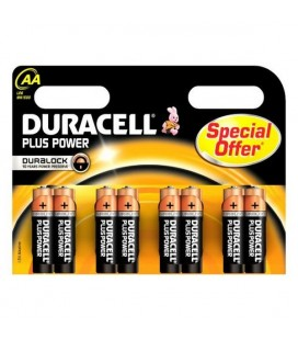 Piles Alcalines DURACELL Plus Power DURLR6P8B LR6 AA 1.5V (8 pcs)