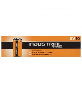 Piles Alcalines DURACELL Industrial DURINDLR61C10 LR61 9V 550 mAh (10 pcs)