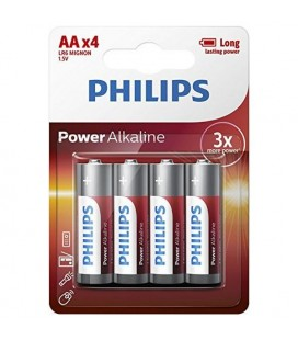Philips Batterie Alcalin LR6 AA PACK-4