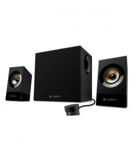 Haut-parleurs multimedia Logitech Z533 2.1 60W Subwoofer 200 mV Doré Noir