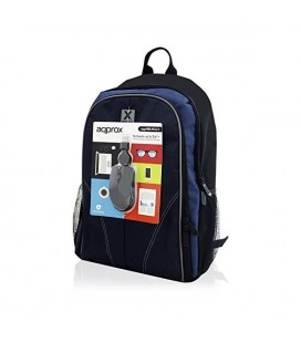 "Sacoche pour Portable approx! APPNBBUNDLE4 15.6"""" Noir Bleu"