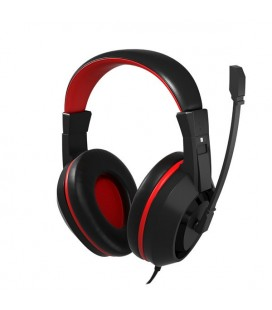 Casques avec Micro Gaming Tacens MAH0+ 32Ω 15mW Ultra Bass Noir Rouge