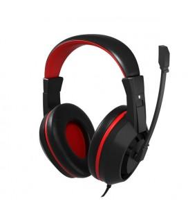 Casques avec Micro Gaming Tacens MAH0+ 32Ω 15mW Ultra Bass Noir Rouge