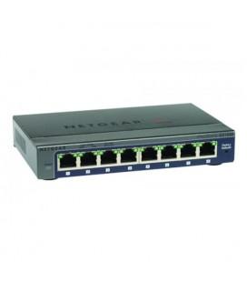 Commutateur Réseau de Bureau Netgear GS108E-300PES 8P Gigabit VLAN QoS