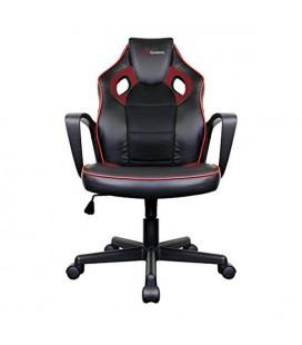Chaise de jeu Tacens MGC0BR Métal PVC Noir Rouge