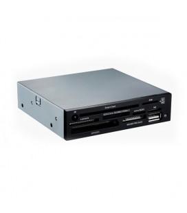 """Lecteur de Cartes Interne SIM/DNI TooQ TQR-202B 3½"""""""" USB 2.0 Micro SD/M2 480 Mbps Noir"""