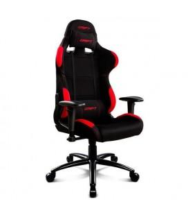 Chaise de jeu DRIFT DR100BR 90-160º Tissu Mousse Noir Rouge