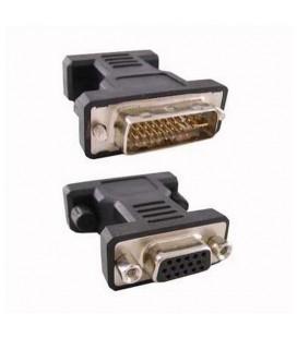Convertisseur DVI 24+5 vers VGA HDB 15 NANOCABLE 10.15.0704 Prise Mâle Prise Femelle