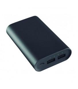 Power Bank KSIX 2 X USB 6000 mAh 5 V 2 A Noir Métallisé