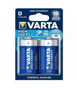 Pile Alcaline Varta LR20 D 1,5 V 16500 mAh High Energy (2 pcs) Bleu