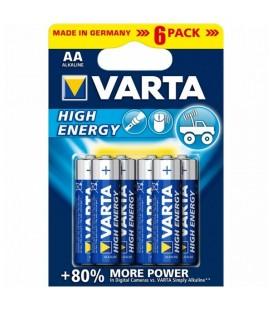 Pile Alcaline Varta 1,5 V AA High Energy (6 pcs) Bleu