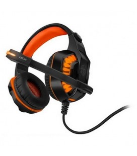Casques avec Micro Gaming KROM NXKROMKNR Konor Ultimate | Orange/Noir