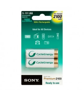 Piles Rechargeables Sony NHAAB2K 201575 Energy Blue 2100 mAh AA (2 pcs)