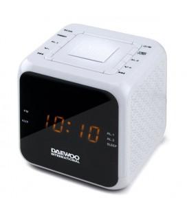 Radio-réveil Daewoo DCR-450 Blanc