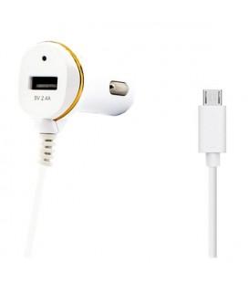Chargeur de voiture Ref. 138192 USB Micro USB Blanc