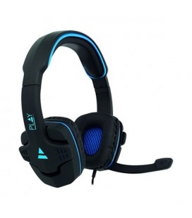 Casques avec Micro Gaming Ewent PL3320 Noir Bleu