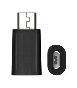 Adaptateur USB C vers Micro USB 2.0 Ewent EW9645 5V Noir