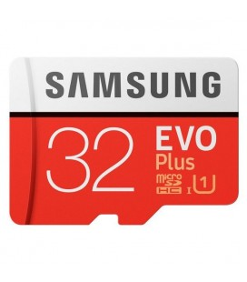 Carte Micro SD Samsung EVO Plus MB-MC32G 32 GB Rouge Blanc