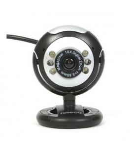 Webcam Omega C12SB 12 mpx LED Noir