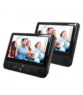 """Lecteur DVD portable Denver Electronics MTW-984TWIN 9"""""""" LCD Noir"""