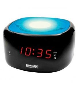 Radio-réveil Daewoo DCR-440BL LED FM Bleu