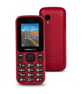 """Téléphone portable pour personnes âgées Thomson TLINK T12 1,77"""""""" Bluetooth VGA FM Rouge"""