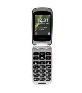 """Téléphone portable pour personnes âgées Thomson SEREA 63 2,4"""""""" Bluetooth VGA FM Blanc"""