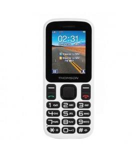 """Téléphone portable pour personnes âgées Thomson TLINK T12 1,77"""""""" Bluetooth VGA FM Blanc"""