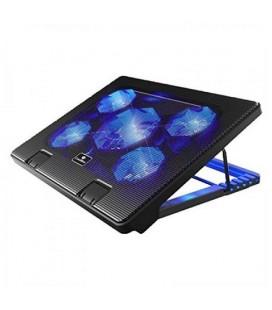 """Support de refroidissement pour ordinateur portable CoolBox COO-NCP17-5BL 12""""""""-17"""""""" Noir"""