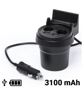 Chargeur USB pour Voiture avec Support pour Téléphone Portable 3100 mAh 145534