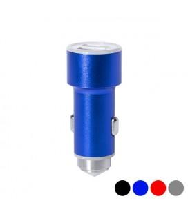 Chargeur USB pour Voiture avec Marteau Brise-Vitres 2100 mAh 145587