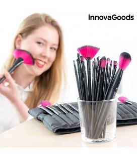 Ensemble de 24 Pinceaux et Brosses de Maquillage InnovaGoods