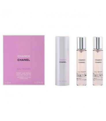 Set de Parfum Femme Chance Eau Tendre Chanel (3 pcs)